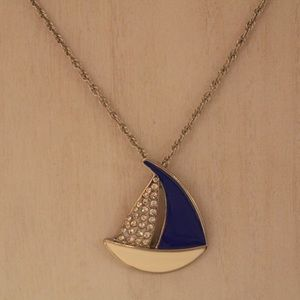 Long sailboat necklace
